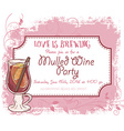 hand drawn mulled wine party invitation card vector image vector image