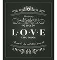 Happy mothers day typography design on blackboard vector image vector image