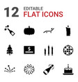 holiday icons vector image vector image