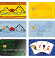 images for bank cards vector image vector image