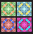 irregular color mosaic vector image