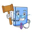 judge office binder file isolated on cartoon vector image