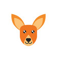 kangaroo head animal wildlife australia icon on vector image