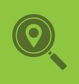 location search glyph color icon vector image vector image