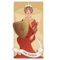 major arcana tarot cards the empress beautiful vector image vector image