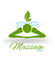 massage green icon logo vector image