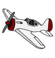 old white propeller airplane vector image