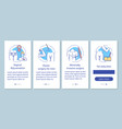 plastic surgery center service onboarding mobile vector image vector image