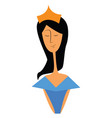 princess with crown or color vector image vector image