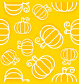 pumpkin seamless pattern outline vegetable vector image