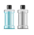realistic detailed 3d water mouthwash set vector image vector image
