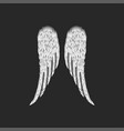 realistic folded pair angel wings vector image