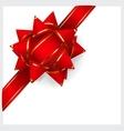 red bow ribbon vector image vector image