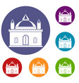 royal castle icons set vector image vector image