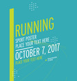run championship poster design template vector image