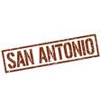 San Antonio brown square stamp vector image vector image