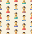 Seamless Pattern Avatars vector image vector image