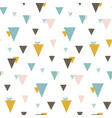 seamless pattern with random triangles vector image vector image