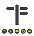 signpost icon on white background vector image