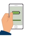 Smartphone battery level icon vector image