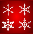 snowflakes set for christmas design vector image vector image