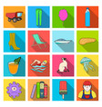 sport travel business and other web icon in flat vector image vector image
