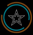 star icon classic rank isolated vector image