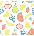 summer fruit seamless background pattern vector image