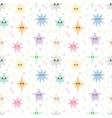 sweet seamless pattern with colorful stars vector image