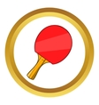 Table tennis racket icon cartoon style vector image vector image