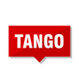 tango red tag vector image vector image
