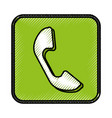 telephone call application icon vector image vector image