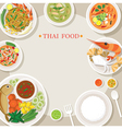 Thai Food and Cuisine Frame vector image vector image