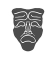 Theatrical masks isolated on white background vector image vector image