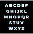 tik tok font vector image