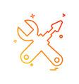 tools icon design vector image