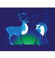 two deer vector image vector image