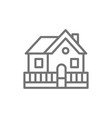vacation home country house line icon vector image vector image