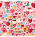 Valentine Day Pink Flat Design Seamless Pattern vector image