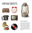 vintage objects vector image