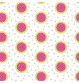 Watermelon half slices seamless pink pattern on vector image