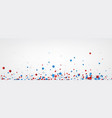 white banner with colorful stars vector image