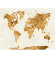 World map in watercolor orange vector image