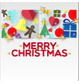 x-mas greeting paper vector image vector image