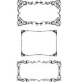 a set vintage floral frames in art nouveau vector image