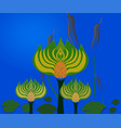 abstract swamp with lotus vector image vector image
