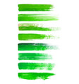 abstract watercolor brush strokes isolated on vector image vector image