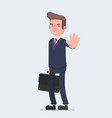 angry business man or strict boss standing and vector image vector image