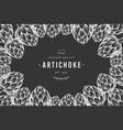 artichoke vegetable design template hand drawn vector image