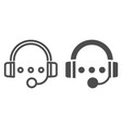 audio course line and glyph icon headphones and vector image vector image